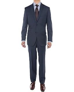 3e07a35c8c0ba3 LN LUCIANO NATAZZI Men's Sharkskin 160'S Wool Suit Two Button Jacket ...