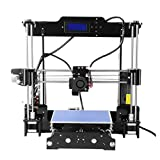 YKS 3D Printer Plastics Self-Assembly High-Speed Precision with Detailed Instructions and LCD Display Supporting ABS & PLA Filaments for DIYer