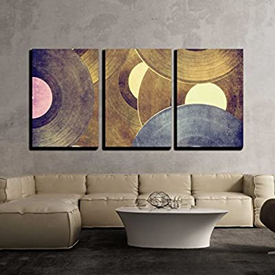 Incredible Artistry, Classic Artwork, Vinyl Records Music Background x3 Panels