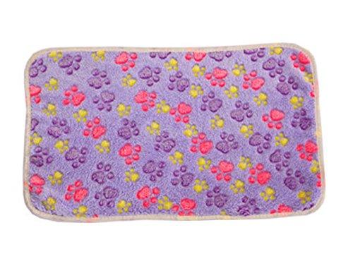Wansan Pet Blanket Flannel Fleece Dog Blankets Sleep Mat Pow Print Soft and Warm Pet Supplies for Dogs & Cats