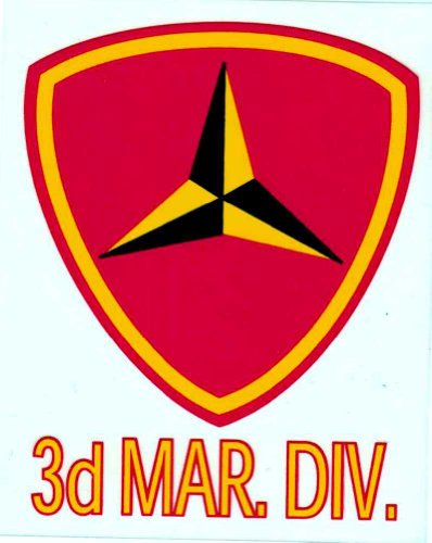 Marine Corps 3rd Division Decal - Marine 3rd
