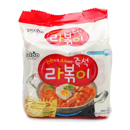 [Korean Noodle] Paldo Immediate Stir-fried Rice Cake with Ramen Noodles 145g(Pack of (Fried Rice Noodles)