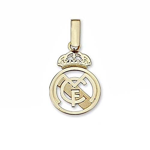 Colgante escudo Real Madrid oro de ley 18k pequeno calado ...