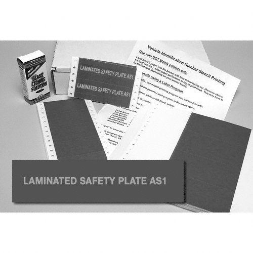 CRL Laminated Safety Glass AS 1 Preprinted Stencils- 100 Pack - 3415042