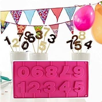 Molde de silicona para pastel Forma de 0-9 números moldes para hornear Decoracion Tartas Pasteles DIY jabón moldes: Amazon.es: Hogar