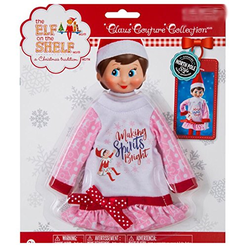 The Elf on the Shelf Claus Couture Making Spirits Bright Nightgown]()