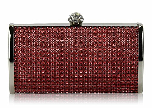 ANNA GRACE - Cartera de mano de Material Sintético para mujer Design 1 - Red