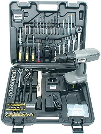 Mannesmann M17975 - Maletín de herramientas (con destornillador inalámbrico de 18 V color gris plateado) 75 piezas: Amazon.es: Bricolaje y herramientas