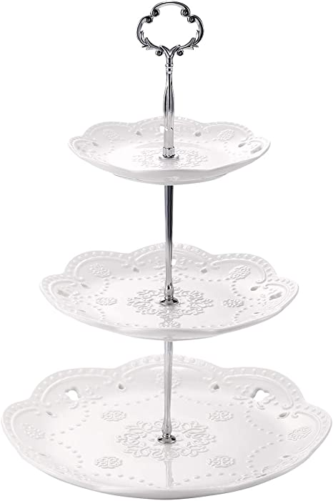 Glass Cake Stand Dessert Table Cupcake Stand Birthday Party Bridal Shower Baby Shower Sweets Christmas  Thanksgiving Wedding