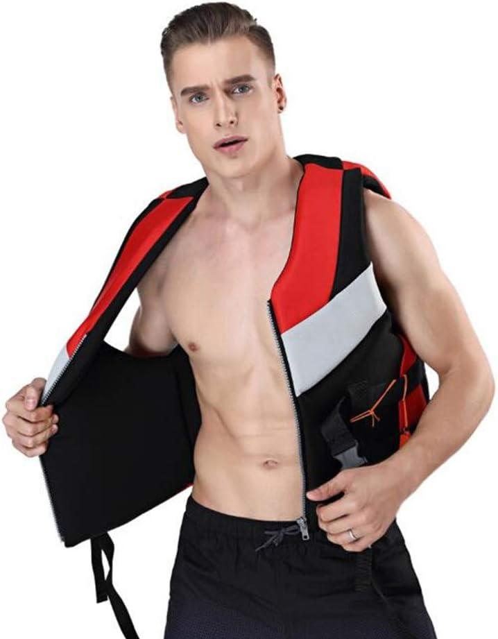 Chaleco Salvavidas con Silbato de Snorkel Unisex para Nadar Rafting BSTCAR Chaleco Salvavidas Adulto nataci/ón Trabajo de Rescate S//M//L//XL//XXL Kayak de Playa esqu/í acu/ático