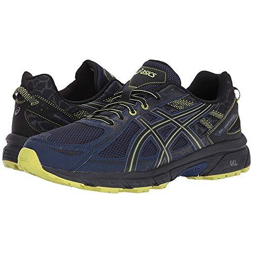 ASICS Mens Gel-Venture 6 Running Shoe, Indigo Blue/Black/Energy Green, 12 (Asics Gel Quickwalk Sl Walking Shoes Mens)