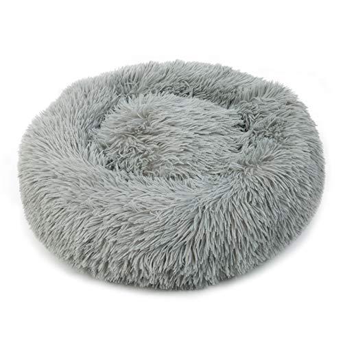 Blivener Plüsch Haustierbett für Katzen und Hunde Kuschelig Weich Runden Katze Schlafen Bett für Haustiere in Doughnut…