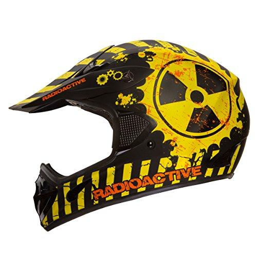 Matte Black Motocross Helmet - 3