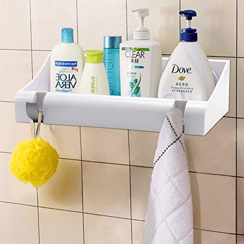 Accessori Bagno Senza Trapano.Lef Organizer Per Ripiano Per Vasca Da Bagno Potente Ventosa A