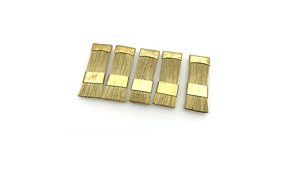Dental Bur Cleaning Brass Wire Brush Flat for Dental Product Bur Files Tool