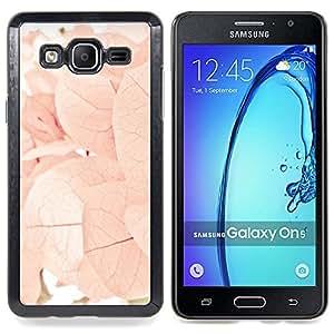 Stuss Case / Funda Carcasa protectora - Otoño Primavera Flores Hojas Rosa - Samsung Galaxy On5 O5