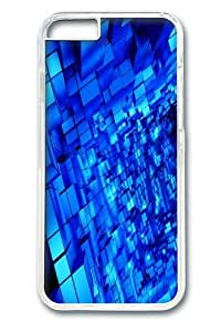 Abstract Blue Cubes Polycarbonate Hard Case Cover for iphone 6 plus 5.5 inch Transparent