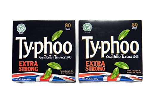 - Typhoo Extra Strong Foil Fresh Black Tea Teabags (80 per Pack) - 2 Pack (Total: 160 Teabags)