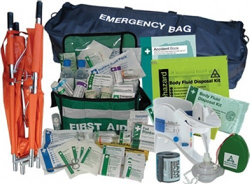Full Emergency First Aid Kit [With Stretcher] - Treat Serious Injuries With The Ultimate First Aid Kit! [Net World Sports] by Net World Sports