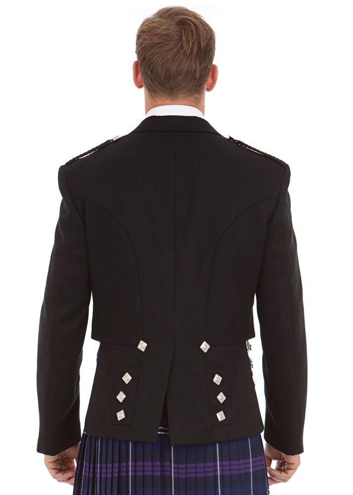 Kilt Society Mens Scottish Black Prince Charlie Kilt Jacket & Vest 52 Regular by Kilt Society (Image #6)