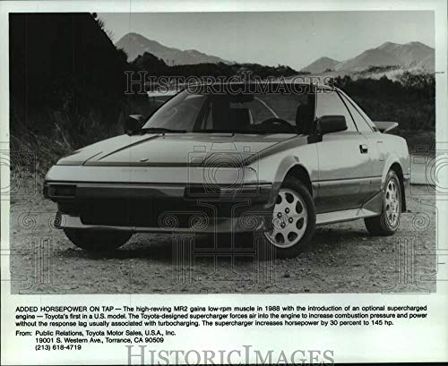 Vintage Photos 1988 Press Photo The Supercharged Toyota 1988 MR2 Comes Loaded with Options. ()