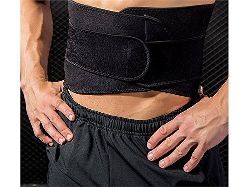 Huasen Sports Safe Guard Waist Trimmer Sweat Belts Adjustable Slimming Belt for Women and Men_Black Cycling Sports by Huasen (Image #2)