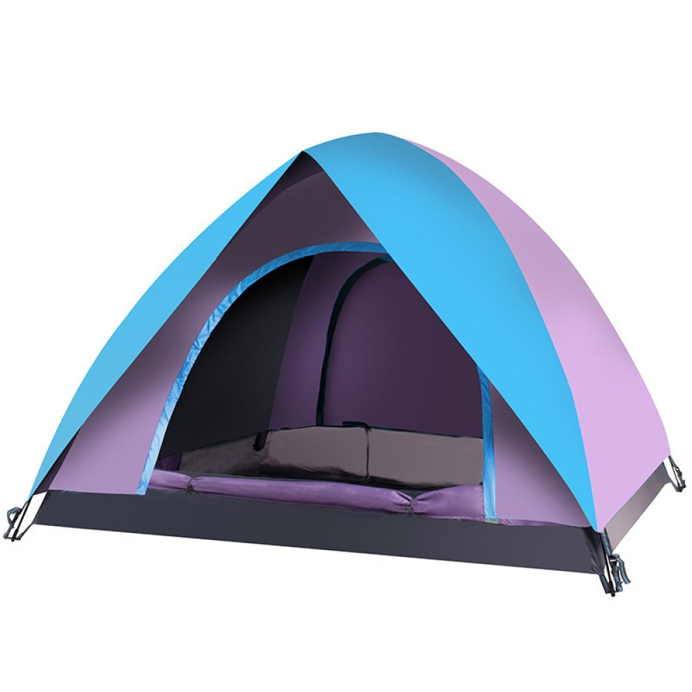 Hlxx Regenfestes Strand-Zelt Im Freien 3-4 Leute Automatisches Doppeltes Campingzelt-im Freienversorgungen,E