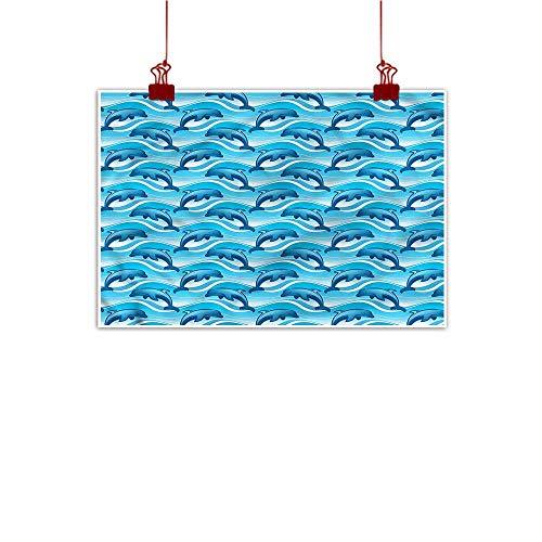 (warmfamily Fabric Cloth Rolled Dolphin,Genius Sea Mammal Ocean 36