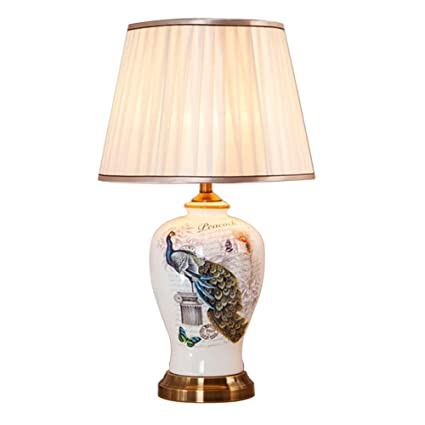 Amazon Ylt Nyq Large Ceramic Table Lamp Bedside Lamp For