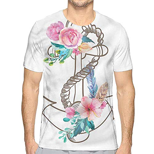 t Shirt for Men Anchor,Spring Blossoms Feathers Custom t Shirt XL