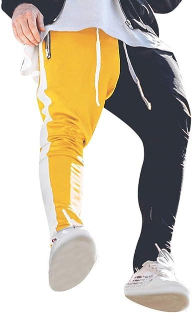 Pantalones Largos Hombre Casuales Con Cremallera Colorblock Multi Bolsillo Pantalones Deportivos Trabajo Corta Pantalones Pants Deportivo Pantalon Fitness Chandal Riou Amazon Es Ropa Y Accesorios