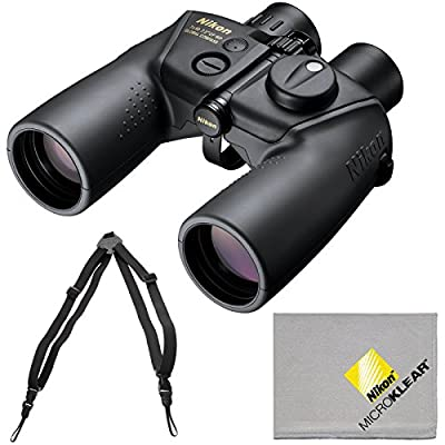 Nikon OceanPro 7x50 Global Compass Waterproof / Fogproof Binoculars with Case + Harness + Cleaning Cloth