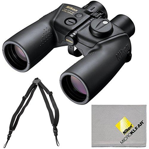 Nikon OceanPro 7x50 Global Compass Waterproof/Fogproof Binoculars with Case + Harness + Cleaning Cloth
