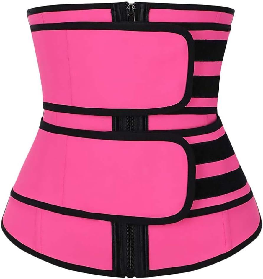 GARNECK Faja Recortadora de Cintura para Mujer Entrenador de Sudor Cintur/ón Entrenamiento Adelgazamiento Fajas del Cuerpo Fitness Quemagrasas Talla M