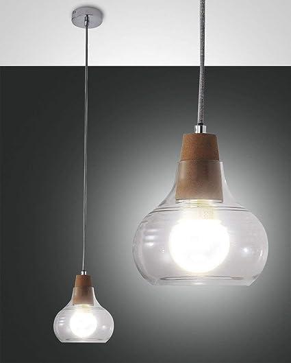 cristal Fabas3267 corcho y cromo 40 lámpara 285Liri Ybg7fy6