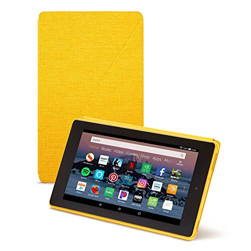 Amazon Fire HD 8 Tablet Case (Compatible with 7th and 8th Generation Tablets, 2017 and 2018 Releases), Canary Yellow (Best Case For Fire Hd 8 2019)