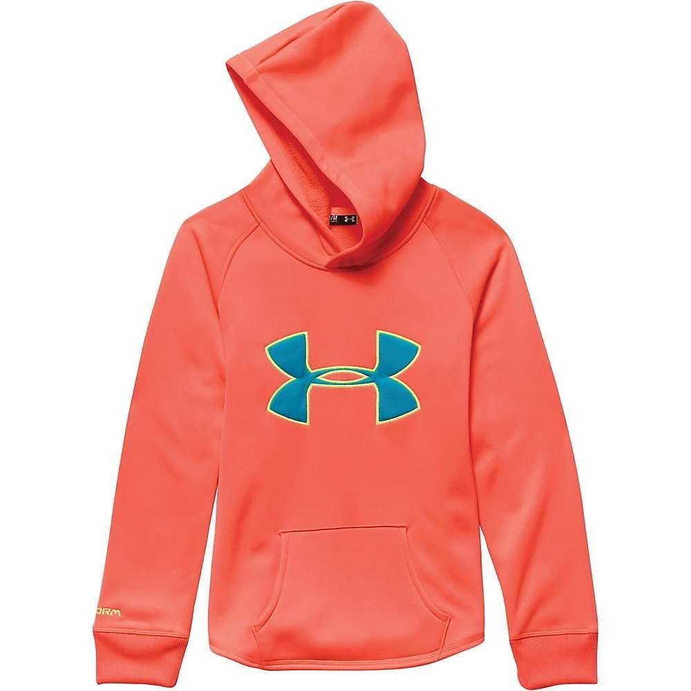 Under Armour Girl's Rival Hoodie After Burn / Pacific / X Ray Small