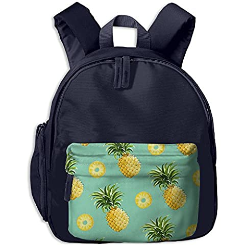 Pineapple Kid's Shoulder Backpack School Bag For Teens Boys Girls Students Navy (Violin Size 1 2 Oxford)