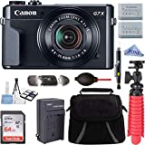 Canon PowerShot G7 X Mark II 20.1MP 4.2x Optical Zoom Digital Camera Video Creator Kit + 64GB High Speed Memory Card + Accessory Bundle Kit