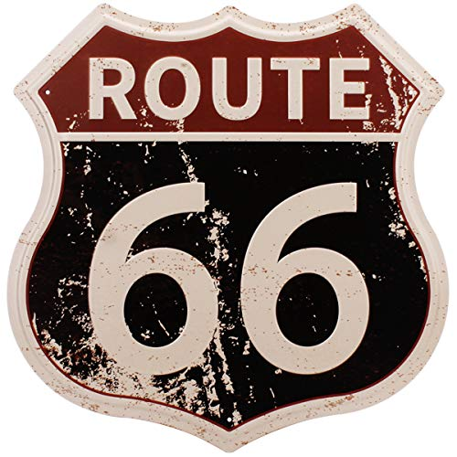 HANTAJANSS Route 66 Metal Signs Vintage Road U.S. 66 Highway Tin Sign for Home Decoration 12