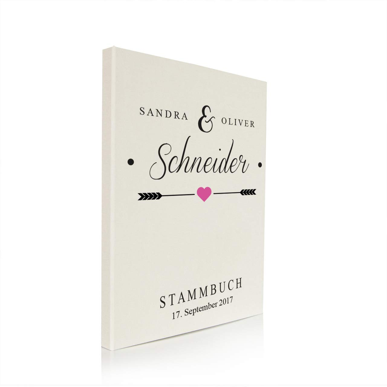 Nr Personalisierung Familienstammbuch Stammbuch der Familie Buchbinderleinen grau 165 inkl