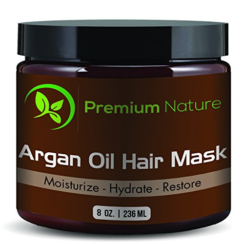 Argan Oil Hair Mask Deep Conditioner - 8 oz Leave In Conditioner Sulfate Free - Damaged & Dry Hair Repair & Growth...