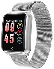 GOKOO Smartwatch Relojs Inteligente IP68 Impermeable Reloj Deportivo con Cronómetro Monitor de sueño Podómetro Calendario Control Remoto de música Pulsera Actividad Fitness Tracker