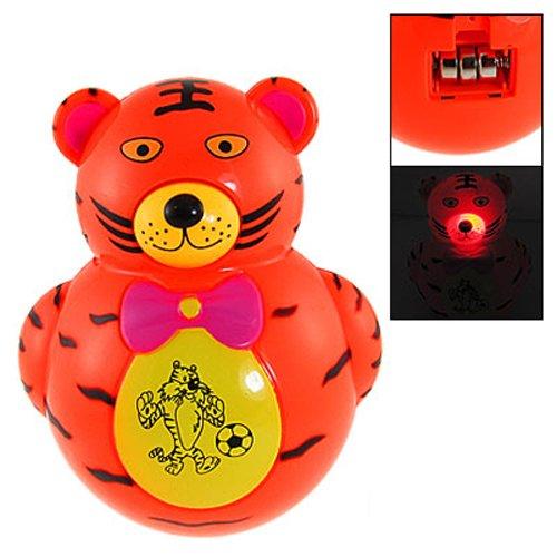 Culbuto de tigre - TOOGOO(R) Enfants rouges clignotant lampe lumiere en plastique Musique Culbuto de tigre jouets