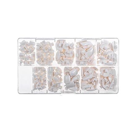 Anself 200pcs 10 Tamaños Uñas Postizas Artificiales de Práctica para Esmalte