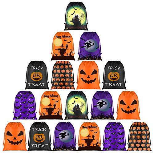 Halloween Party Bags Au (KUUQA 18 Pack Halloween Candy Bags, Halloween Drawstring Goodie Bags, Halloween Treats Bags, Halloween Bags for Halloween Party Favor Supplies Halloween Party)