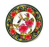 Electric Stove Burner Range Covers Decorative Set of 4 (Hummingbird & Hibiscus)