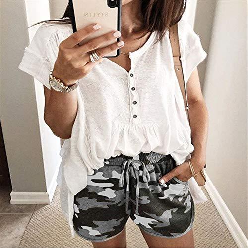 wall decor ster Women's Yoga Sports Bandage Shorts Gray