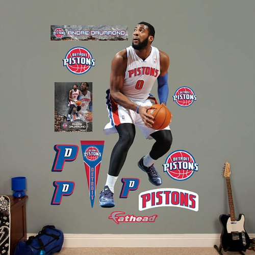 Fathead NBA Detroit Pistons Andre Drummond Wall Decal by FATHEAD