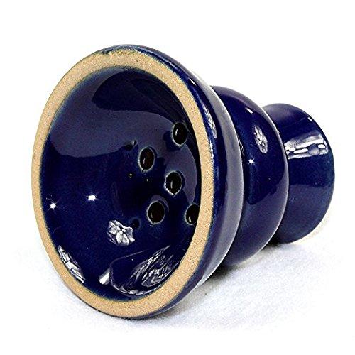 GSTAR Convertible Series: 18'' 1 or 2 Hose Hookah Complete Set - Pantheon Swirl Glass Vase - (Hadrian Blue) by GSTAR Hookah (Image #7)